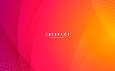 Abstract modern background gradient color. Yellow and pink gradient with halftone decoration. Fototapete