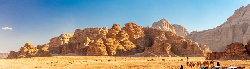Foto auf Leinwand Blau Wadi Rum desert (reserve), Jordan.