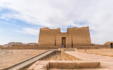 Wall Murals Place of worship temple of egypt kalabsha in nasser lake nile river