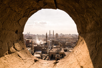 Fotorollo Schokobraun Landscape of cairo old city in egypt africa