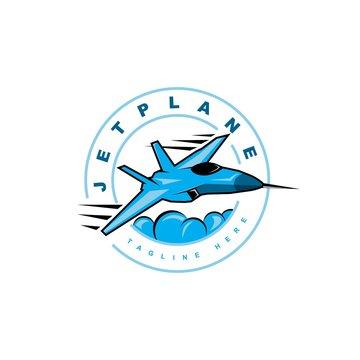 Jet symbol logo design vector template
