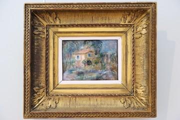 Saint Petersburg, Russia - June 14, 2016: Landscape, Le Cannett by Auguste Renoir (France, 1902)