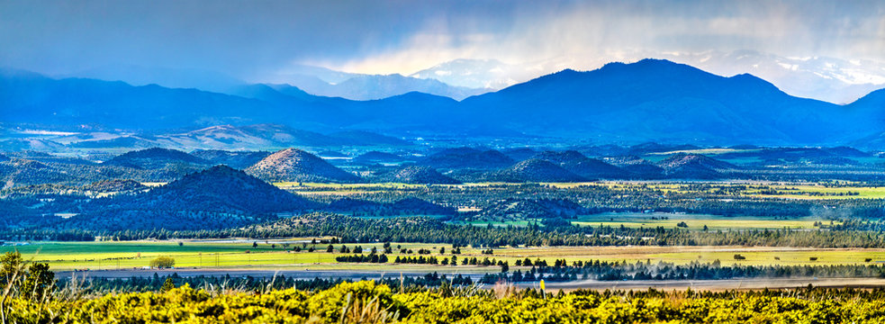 Panorama of Klamath Mountains in northwestern California