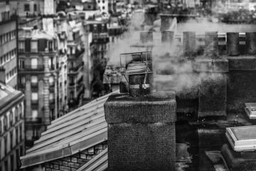 Small smoking chimneys in Paris