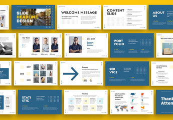 Business Presentation Layout with Arrows