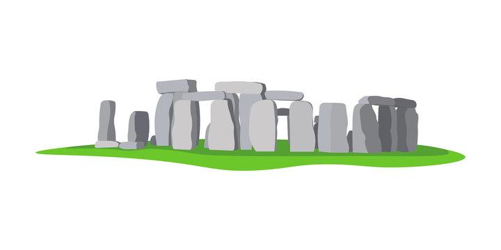Stonehenge ancient rock, monument. Stonehenge prehistoric religious landmark architecture.