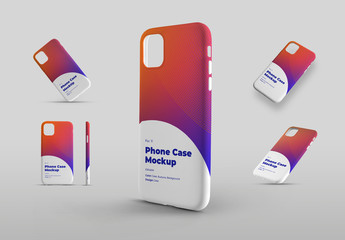 Smartphone Phone Case Mockup Set