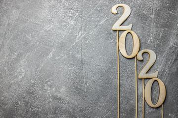 Obraz 2020, napis, data, ciemne tło - fototapety do salonu