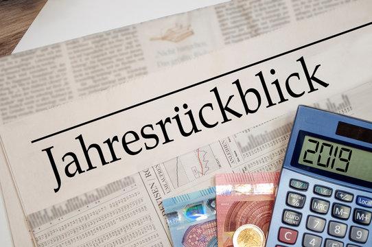 Zeitung mit Jahresrückblick 2019