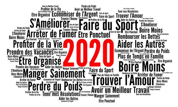 Résolutions 2020 nuage de mots