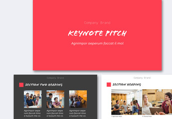 Gray and Red Pitch Deck Layout