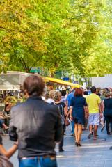 Bummeln, einkaufen und arbeiten in Düsseldorf