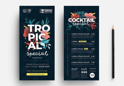 Tropical Bar Flyer Layout