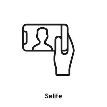 Selfie icon vector. Selfie icon vector symbol illustration. Modern simple vector icon for your design. Selfie icon vector