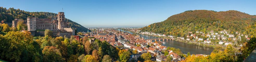 Heidelberg panoramic cityscape, Heidelberg, Germany. Wall mural