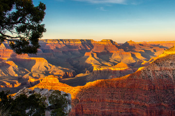 Sunset from Mather Point on the South Rim of Grand Canyon National Park Wall mural