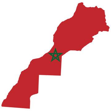 Morocco Map Flag Vector illustration Eps 10
