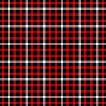 Red black white tartan classic traditional seamless design pattern