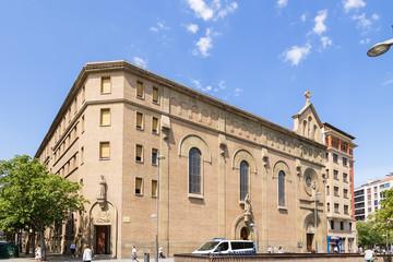 Pamplona, Spain. Church of the Capuchins of San Antonio