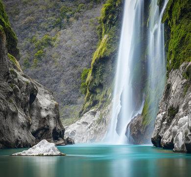 Tamul Waterfall on Tampaon River, Huasteca Potosina, Mexico