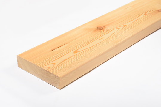 Wood board and timber cut and isolated on white background