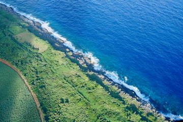 沖縄離島の航空写真