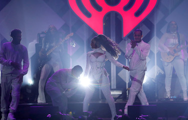 Normani performs during iHeartRadio Jingle Ball concert at The Forum in Inglewood
