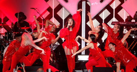Cabello performs during iHeartRadio Jingle Ball concert at The Forum in Inglewood