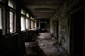 Abandoned building in Prypiat, Chernobyl