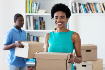 Move of african american family to new home