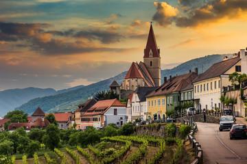 Church of Weissenkirchen in der Wachau, a town in the district of Krems-Land, Wachau Valley, Austria.