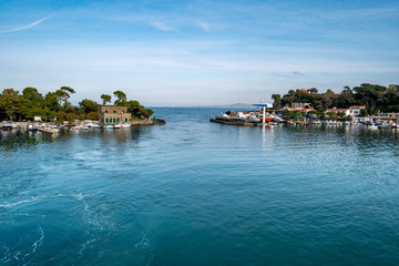 Phlegraean Islands, Ischia, Naples, Campania, Italy: boats docked in the Port of Ischia
