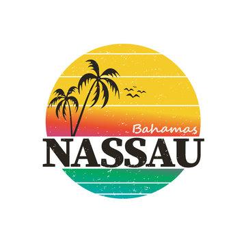 Nassau Bahamas. Travel and vacation theme. t-shirt design