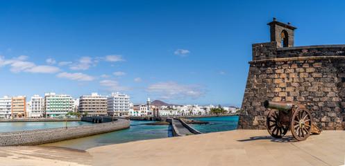 Landscape with Arrecife, capital of Lanzarote, Canary Islands, Spain