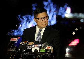 Hong Kong's Commissioner of Police Chris Ping-keung Tang attends a news conference in Beijing