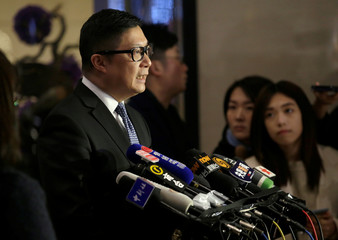 Hong Kong's Commissioner of Police Chris Ping-keung Tang speaks at a news conference in Beijing