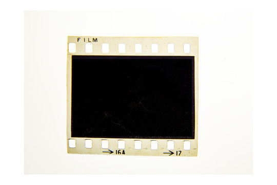 (35 mm.) film frame With vintage space on white background.