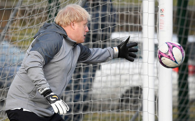 Britain's Prime Minister Boris Johnson attends a campaign event in Cheadle Hulme