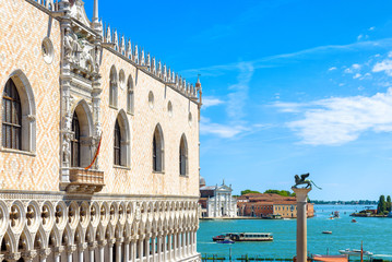 Fototapete - Doge`s Palace in summer, Venice, Italy. It is a famous landmark of Venice.