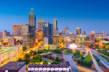 Fototapete - Atlanta, Georgia, USA Downtown Cityscape
