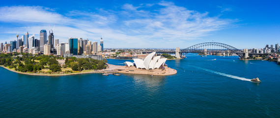 Photo sur Plexiglas Sydney Aerial View of Sydney, Australia. Drone shot. Panorama.