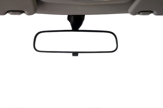 Car Rear view mirror isolated for creative landscape montage