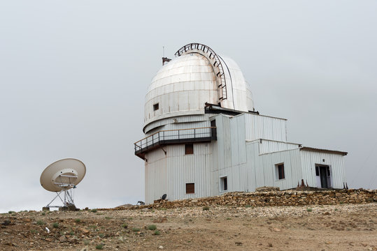 Ladakh, India - Jul 14 2019 - Indian Astronomical Observatory in Hanle, Ladakh, Jammu and Kashmir, India.