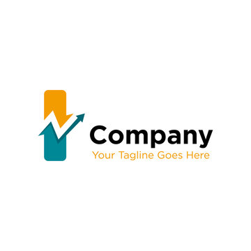 letter I trade marketing logo design vector. initial I and chart diagram graphic concept. company, corporate, business, finance symbol icon