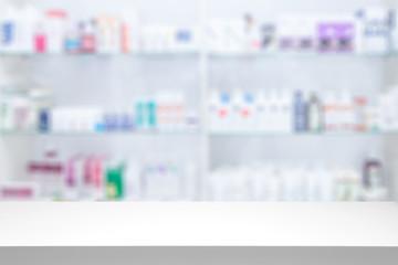 Photo sur Aluminium Pharmacie Pharmacy drugstore background concept.