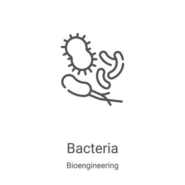 bacteria icon vector from bioengineering collection. Thin line bacteria outline icon vector illustration. Linear symbol for use on web and mobile apps, logo, print media