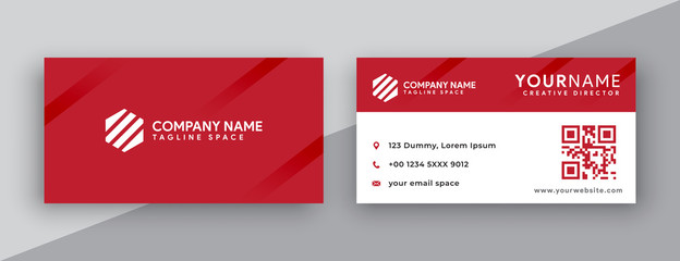 modern business card design . double sided business card design template . red business card inspiration