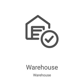 warehouse icon vector from warehouse collection. Thin line warehouse outline icon vector illustration. Linear symbol for use on web and mobile apps, logo, print media