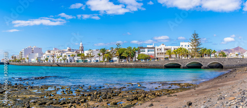 Wall mural Landscape with Arrecife, capital of Lanzarote, Canary Islands, Spain