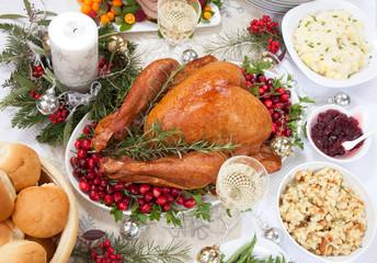 Christmas Smoked Turkey and Ham